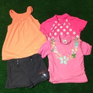 Baby girl's 4 pieces bundle size 4
